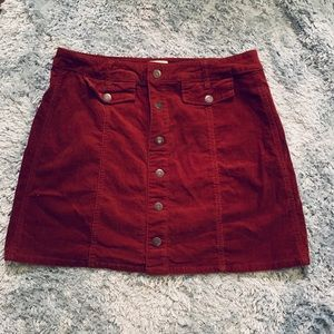 Fall corduroy skirt